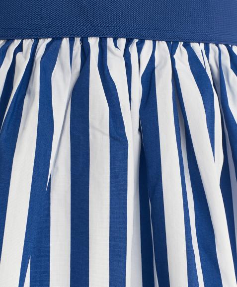 Юбка в синюю полоску