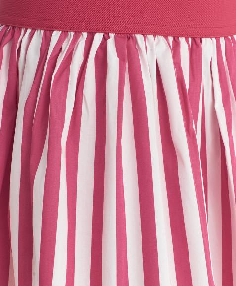 Юбка в розовую полоску
