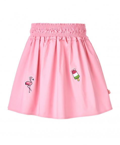 Розовая юбка с принтами