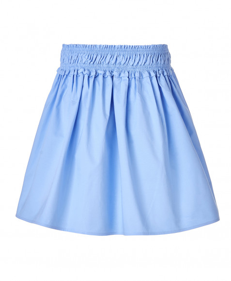 Голубая юбка с принтами
