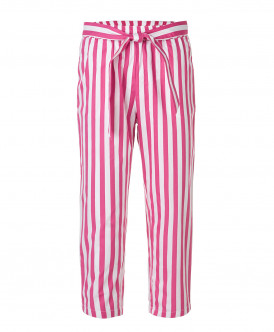 Розовые брюки в полоску