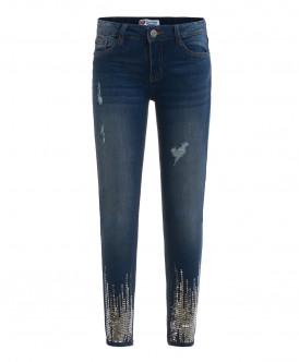 Синие джинсы с пайетками