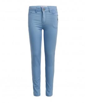 Голубые брюки из твила 119BBGC63111800 фото