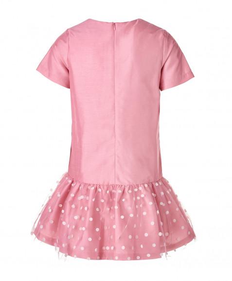 Розовое нарядное платье