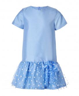 Голубое нарядное платье
