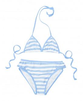 Белый купальник в полоску Button Blue