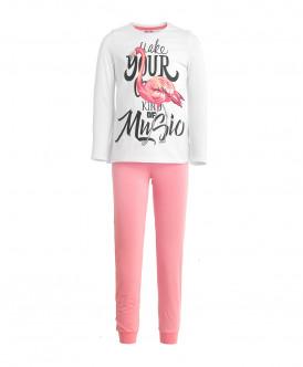 Пижама с брюками для девочки