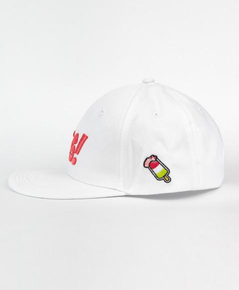 Белая бейсболка для девочки