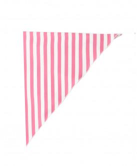 Белый платок в розовую полоску