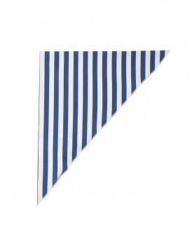 Белый платок в синюю полоску
