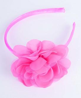 Розовый ободок с декором