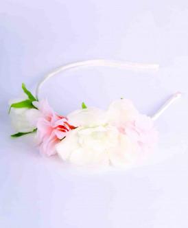Белый ободок с декором