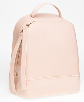 Розовый лакированный рюкзак