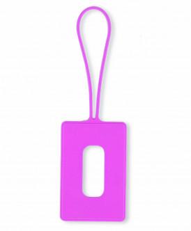 Розовый чехол для пропуска Button Blue