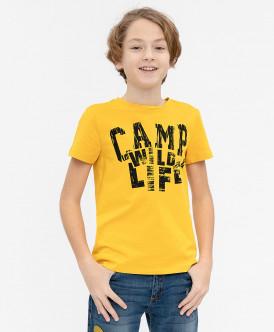 Желтая футболка с принтом