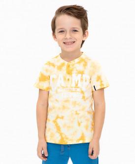 Желтая футболка с принтом 120BBBC12042700 фото