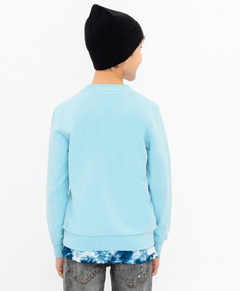 Голубая толстовка Button Blue