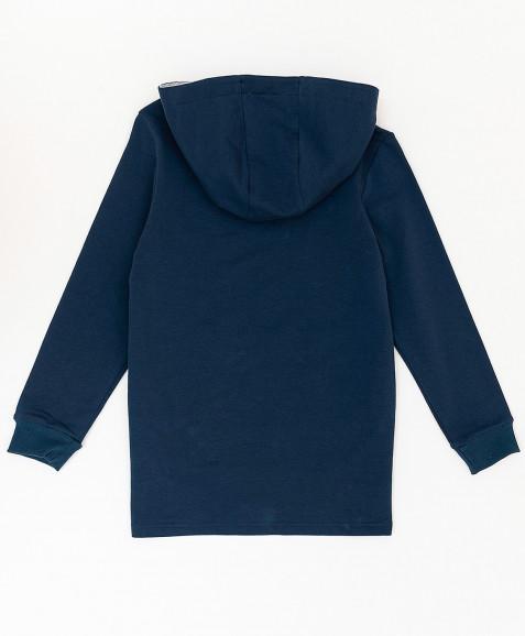 Синяя толстовка с капюшоном