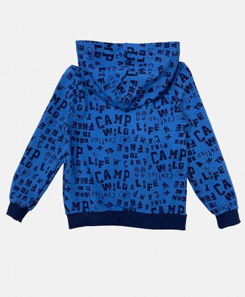 Синяя толстовка с орнаментом