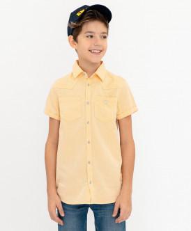 Желтая рубашка с коротким рукавом 120BBBC23022700 фото
