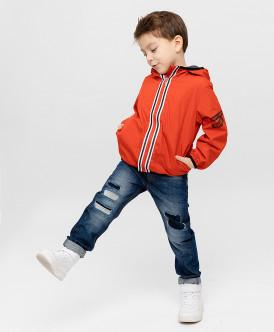ветровка button blue для мальчика, красная
