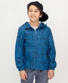 ветровка button blue для мальчика, синяя