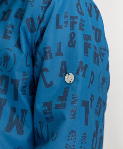 Синяя ветровка с орнаментом Button Blue