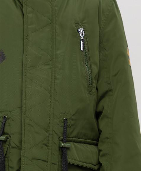 Демисезонное пальто цвета хаки