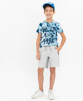 шорты button blue для мальчика, серые