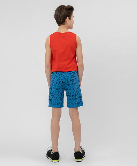 Синие шорты с орнаментом