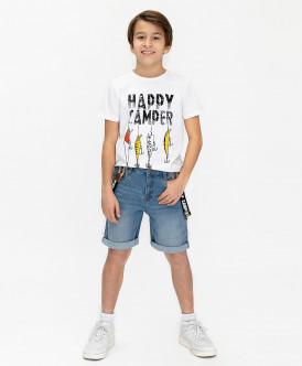 шорты button blue для мальчика, голубые
