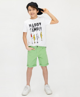 шорты button blue для мальчика, салатовые