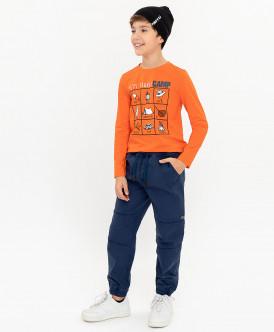 Синие брюки на резинке 120BBBC63071000 фото