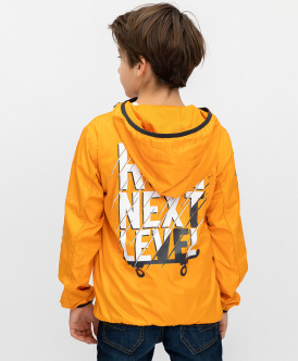 ветровка button blue для мальчика, оранжевая