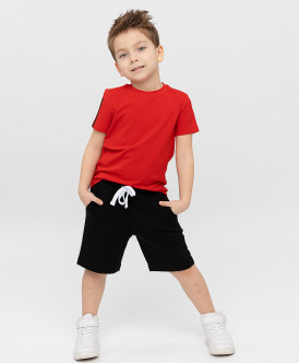 шорты button blue для мальчика, черные