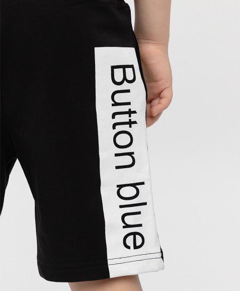 Черные шорты с принтом Button Blue