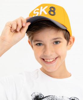 бейсболка button blue для мальчика, желтая