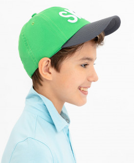 бейсболка button blue для мальчика, зеленая