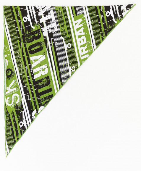 Зеленая бандана с принтом
