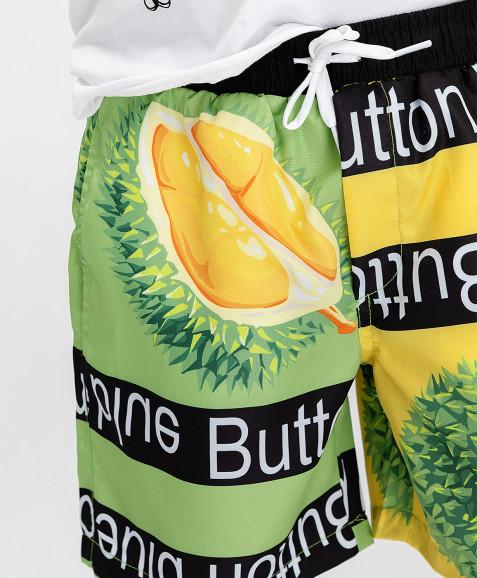 Плавательные шорты с принтом Button Blue
