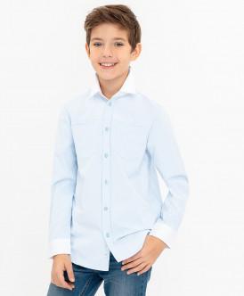 Голубая нарядная рубашка Button Blue