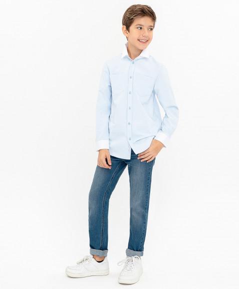 Голубая нарядная рубашка