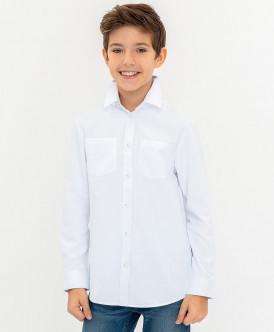 Белая нарядная рубашка Button Blue