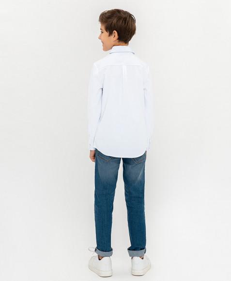 Белая нарядная рубашка
