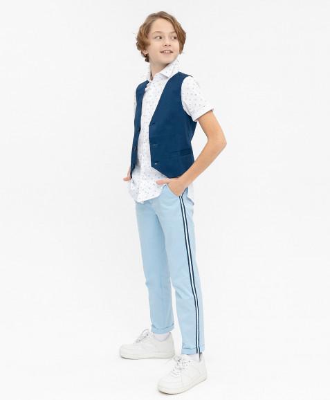 Синий нарядный жилет