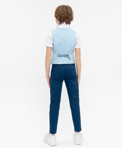 Голубой нарядный жилет
