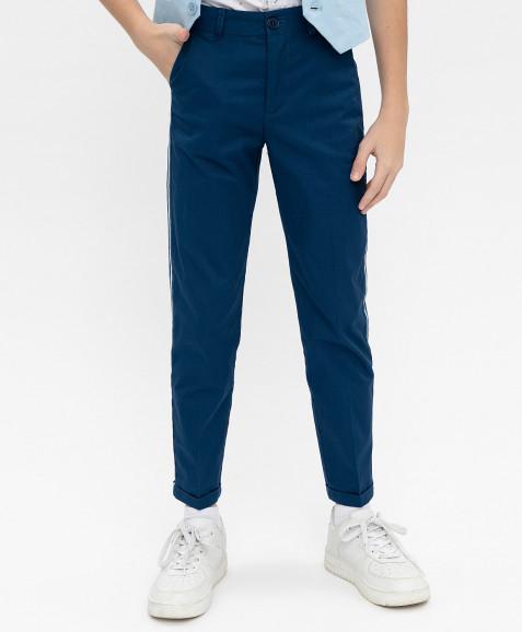 Синие нарядные брюки Button Blue