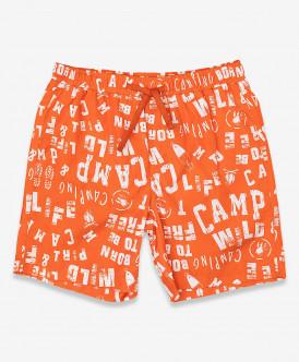 Оранжевые плавательные шорты