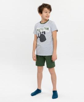 Пижама с шортами для мальчика