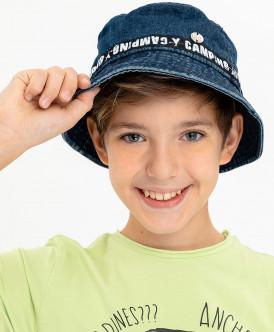 панама button blue для мальчика, синяя